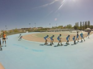 curva patinódromo